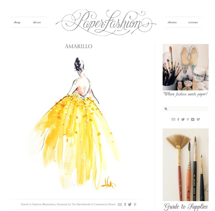 Screenshot of Paper Fashion blog