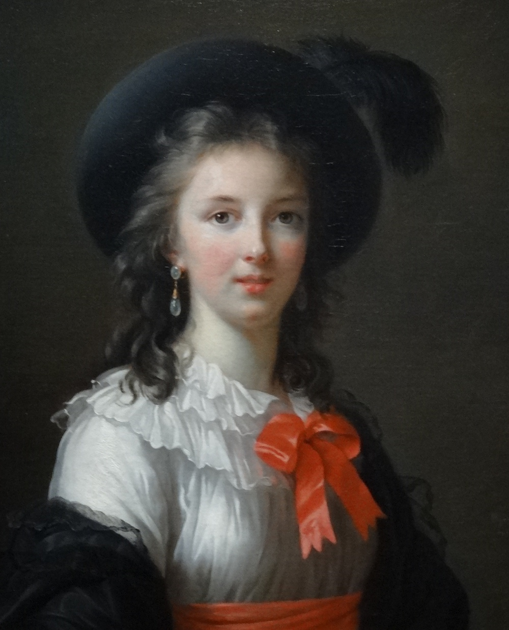 Self Portrait with Cerise Ribbon circa 1782 by Elisabeth Vigée Le Brun