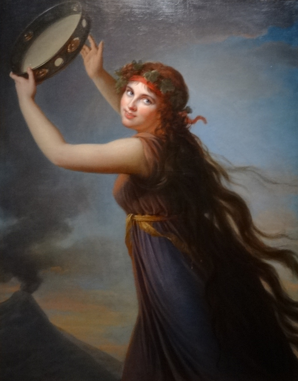 Lady Hamilton as a bacchante dancing in front of Vesuvius in 1792 by Elisabeth Vigée Le Brun
