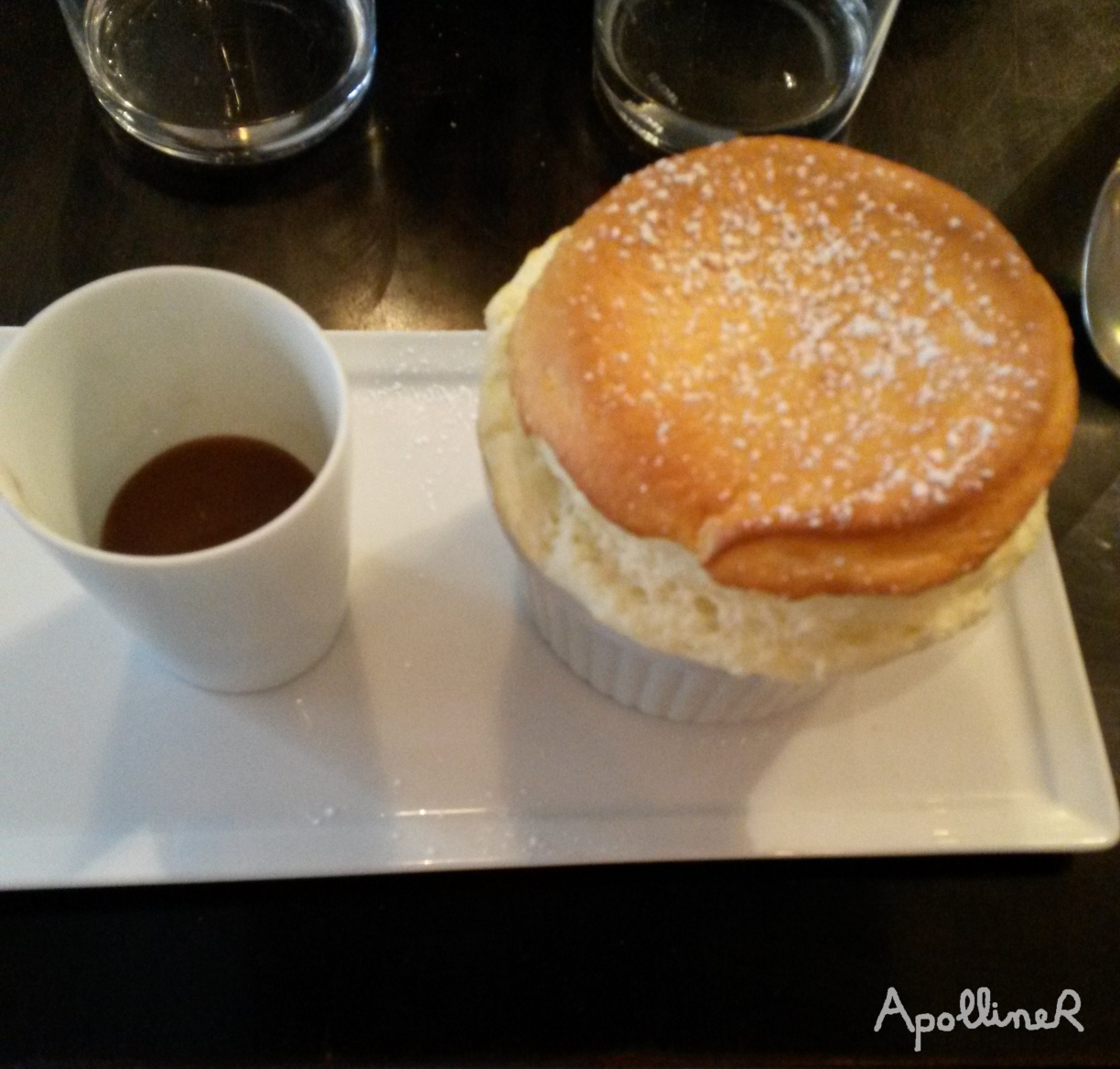 Grand Marnier Soufflé with caramel