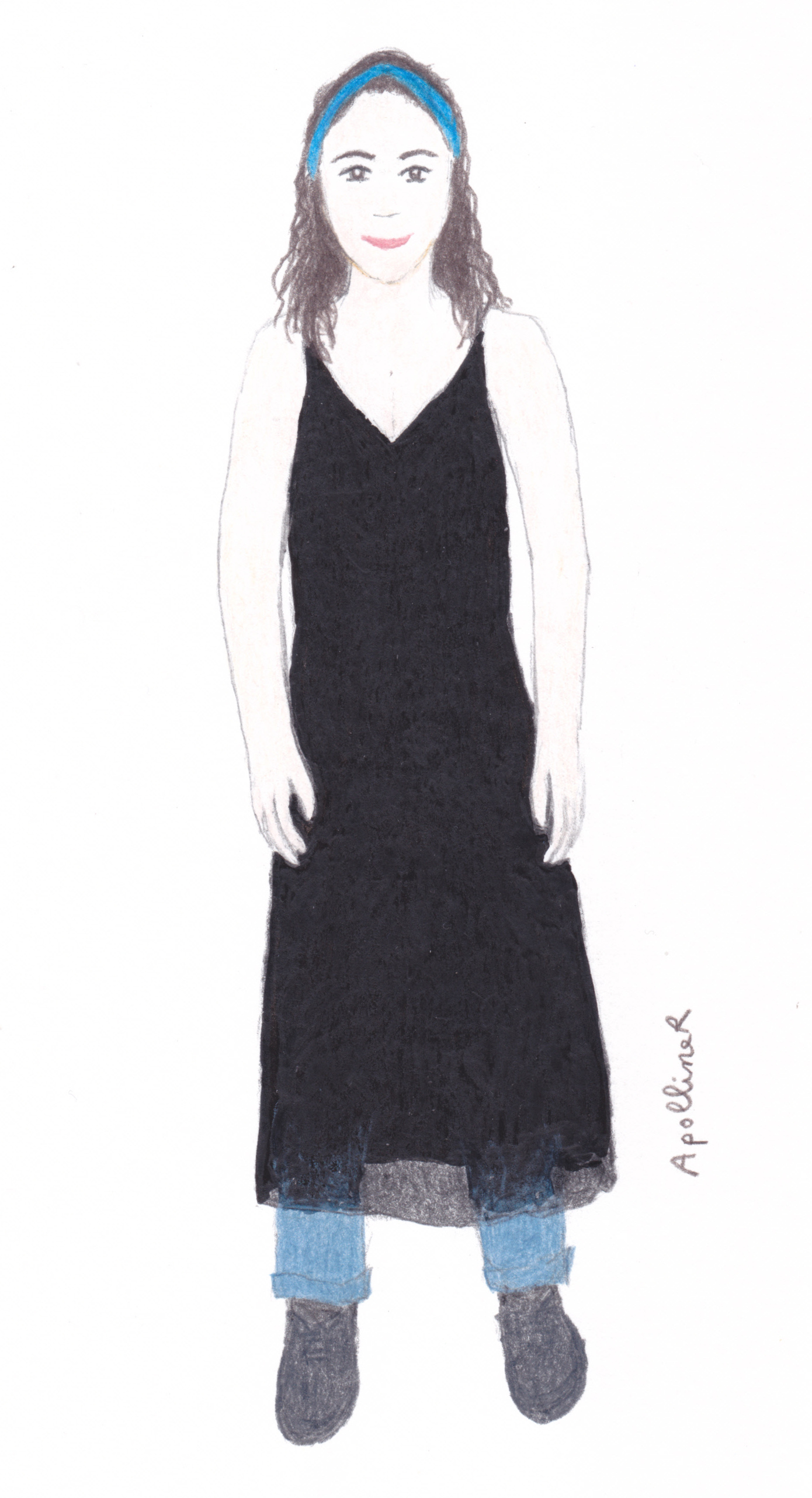 drawing of Tammy, coordinator of Fashion Revolution Malta