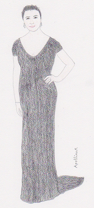 drawing of Julianna Margulies at the 2012 Cannes Film Festival