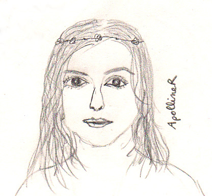 drawing of Keira Knightley wedding hairstyle