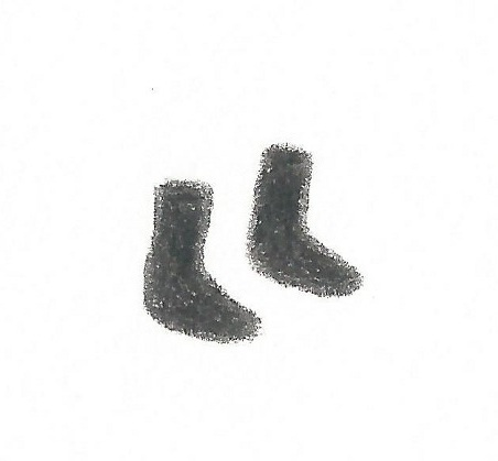 drawing of socks