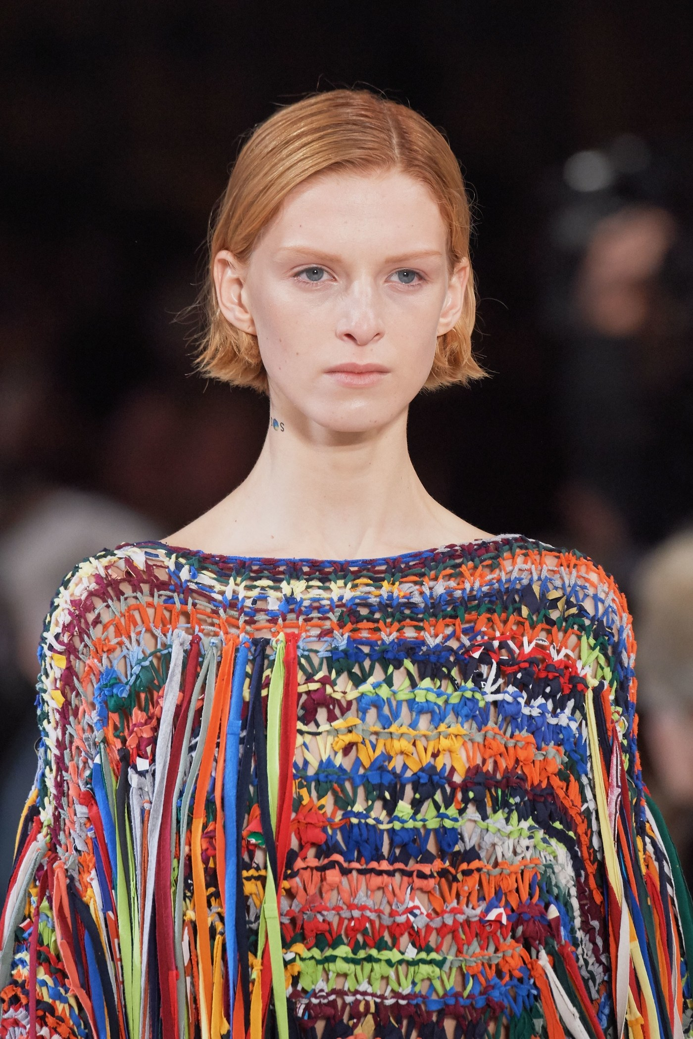 The Stella McCartney Fall-Winter 2019-2020 Fashion Show upcycled multicoloured dress