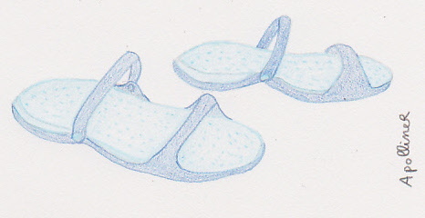 drawing of my sandals-travel slippers