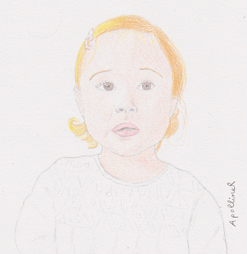 drawing of a puzzled child