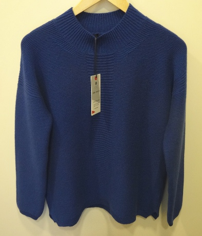 A blue jumper from Marks & Spencer's Best of British collection