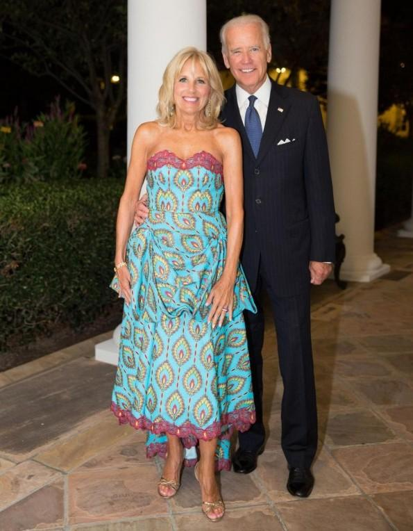 Jill Biden's custom-designed dress from Kinshasa at United States–Africa Leaders Summit