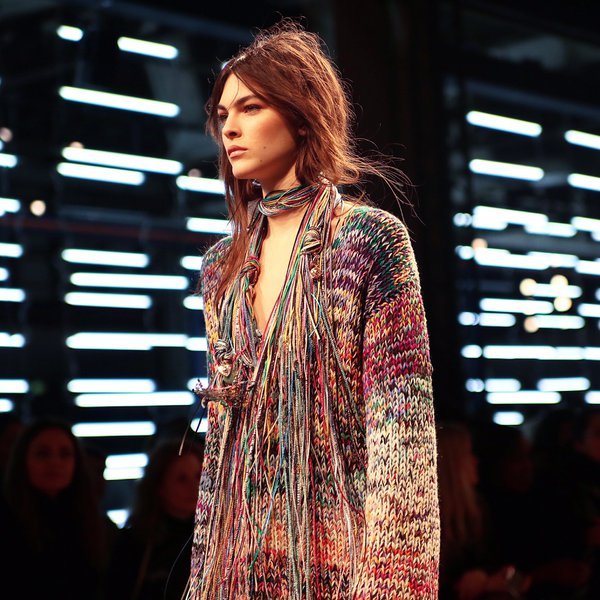 A yarn necklace spotted at Missoni fall-winter 2016-2017 fashion show