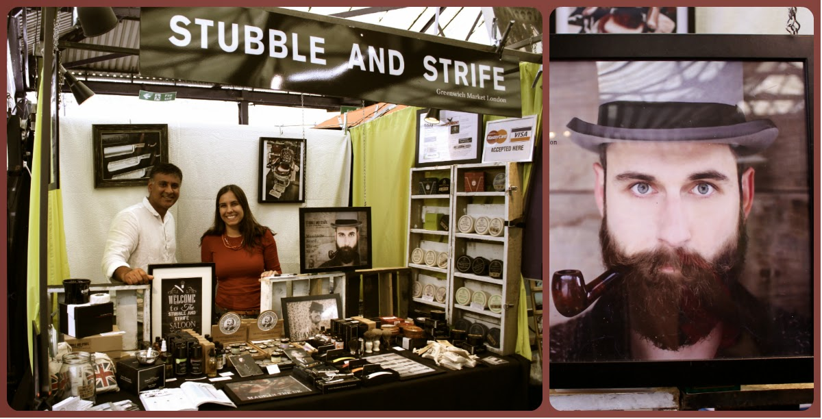 Le stand Stubble and Strife au Greenwich Market à Londres