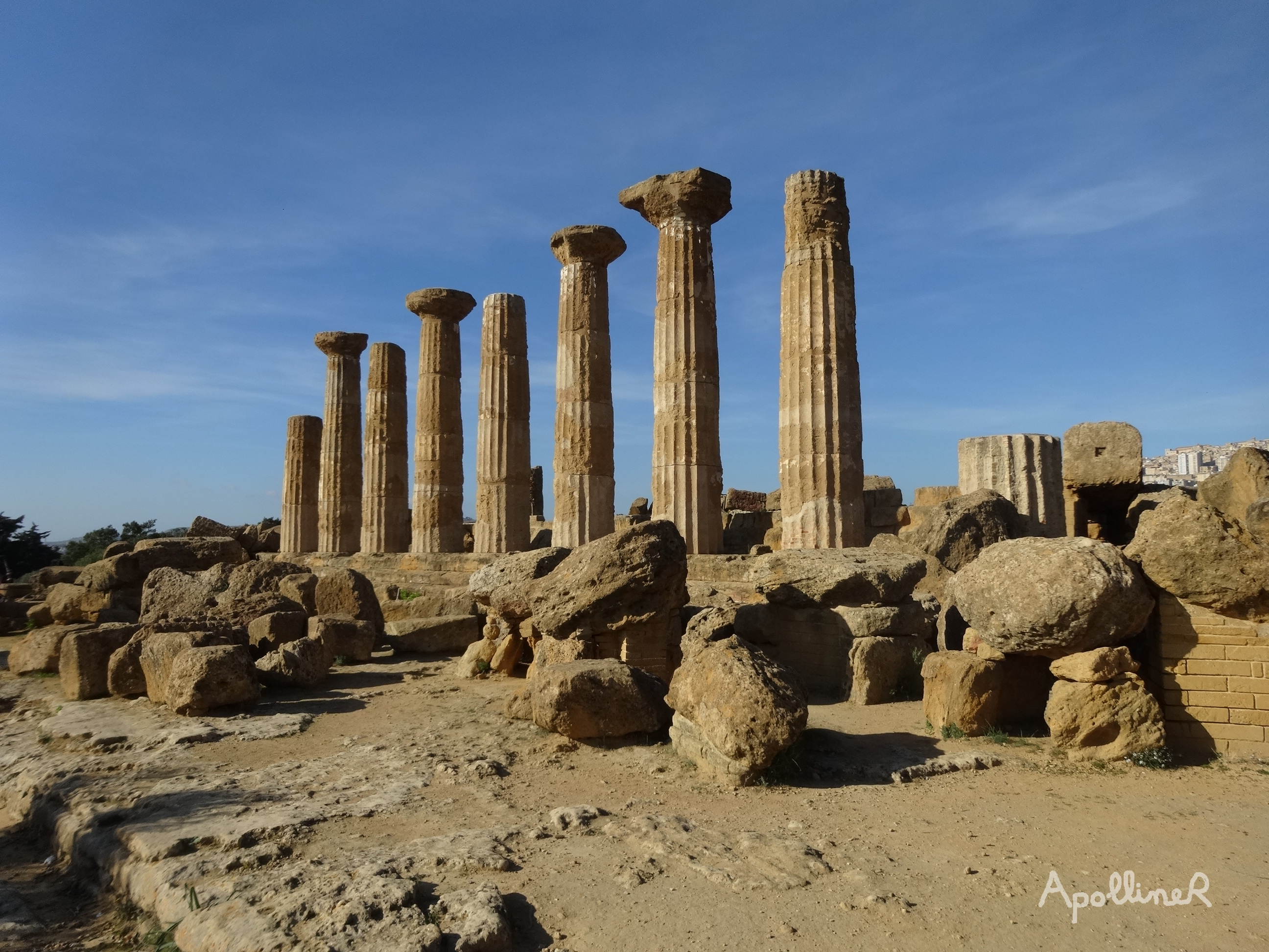 The Valley of the Temples in Sicily. Temple of Heracles
