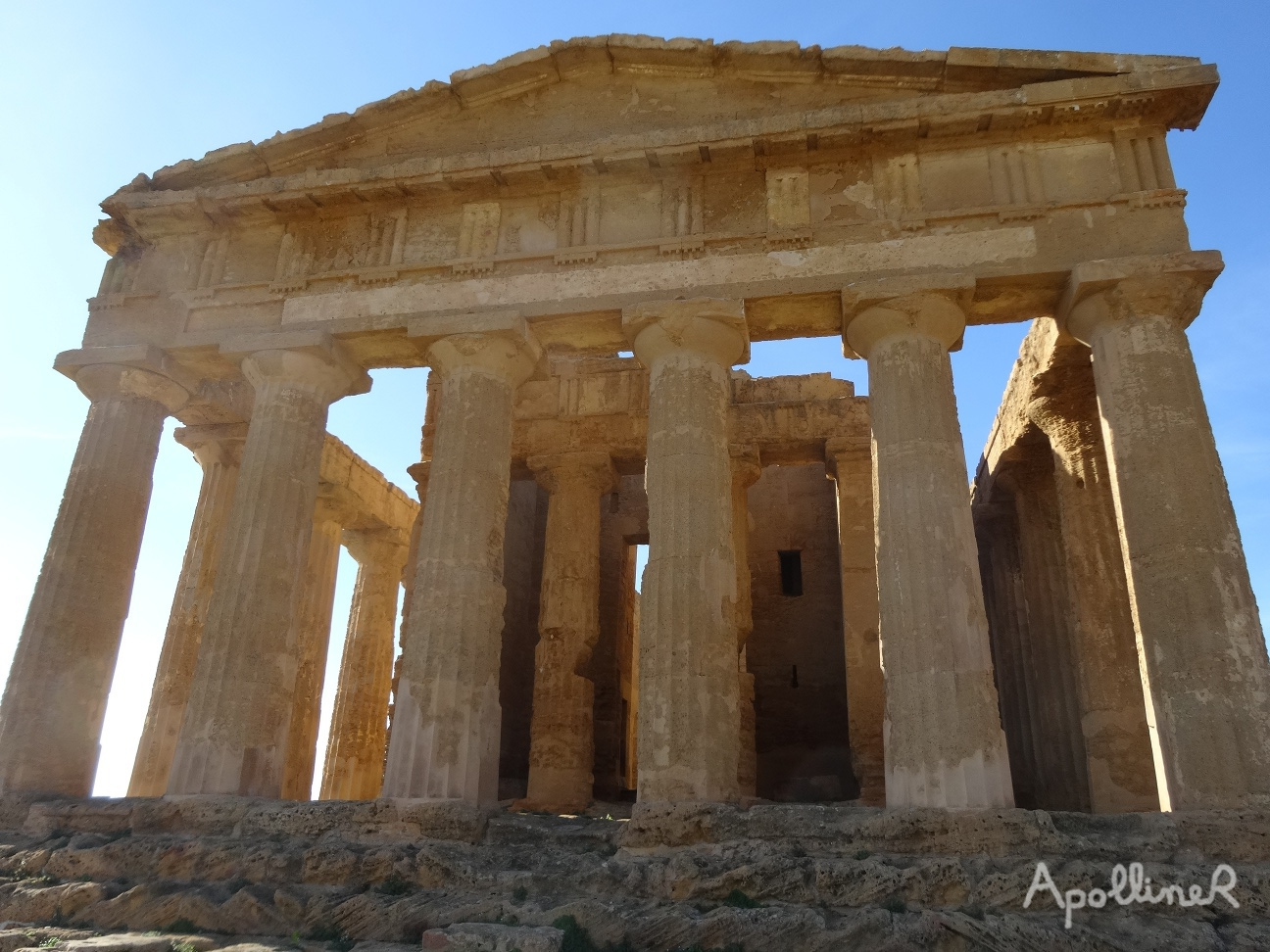 The Valley of the Temples in Sicily. Temple of Concordia