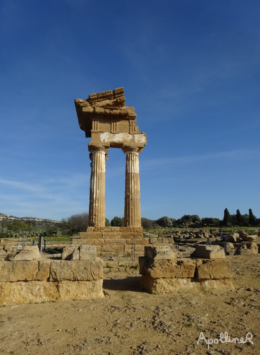 The Valley of the Temples in Sicily. Temple of Castor and Pollux