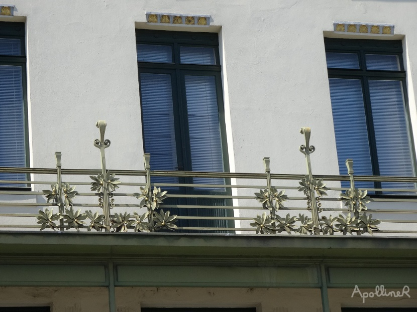 Medallion House in Vienna. Detail of the balconies.