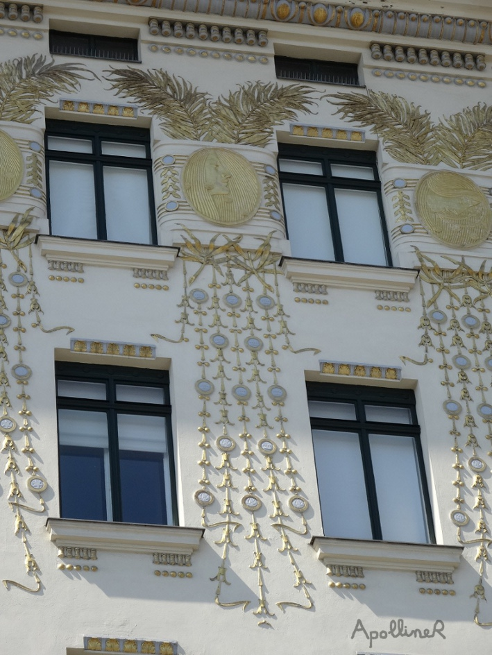 Medallion House. Detail of the medallions