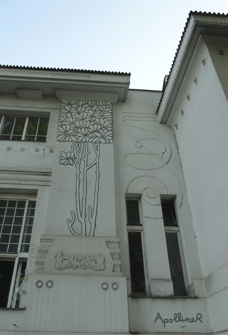 Secession building in Vienna. Laurel patterns on the facade